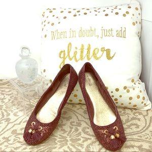 Sperry Topsiders - 🥿 Burgundy Glitter Flats 🥿